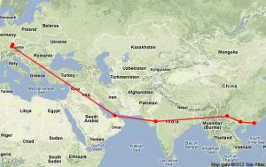 Regensburg to Hong Kong
