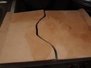 Pampered Chef broken stoneware baking tray