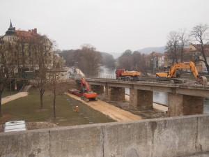 Heavy equipment near Alte Linde