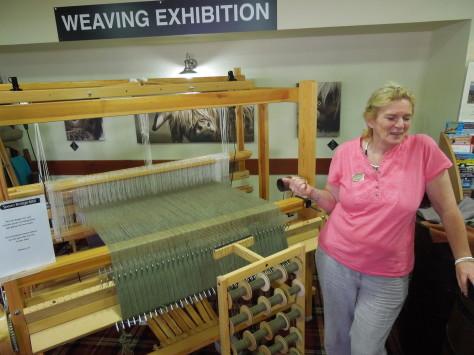 Mary-Carol and her loom