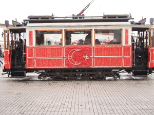 All the trams we rode were very modern.  But you can use the Istanbulkart to pay for your ride on this one.