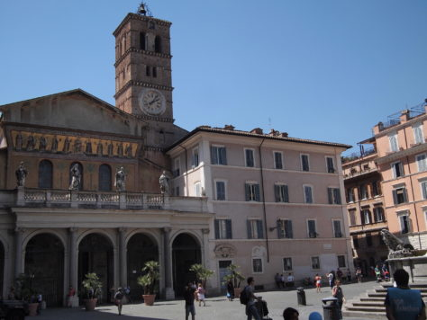 Santa Maria in Trastevere, one of the oldest churches in Rome