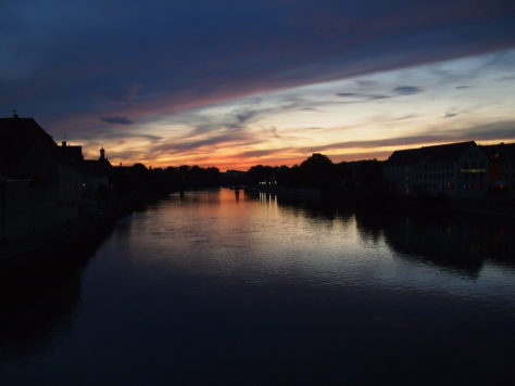 Sunset from Steinerne Brücke