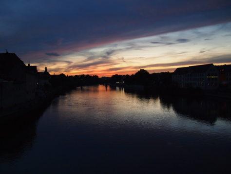 Sunset from Steinerne Brücke