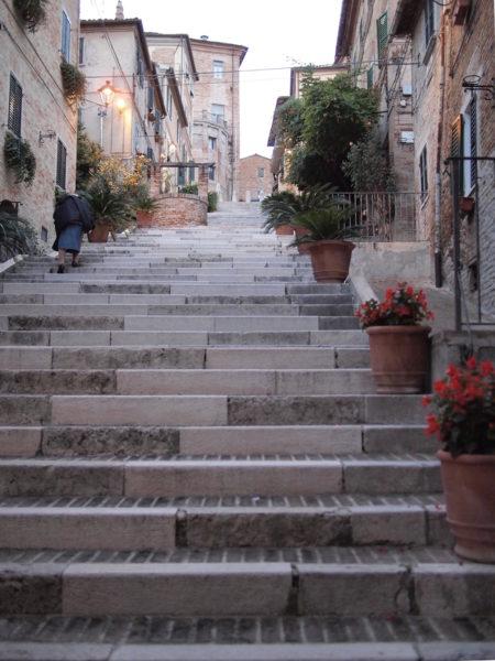 Tiny village, little old lady, big steps